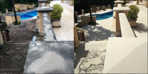 sandstone cleaning before and after.