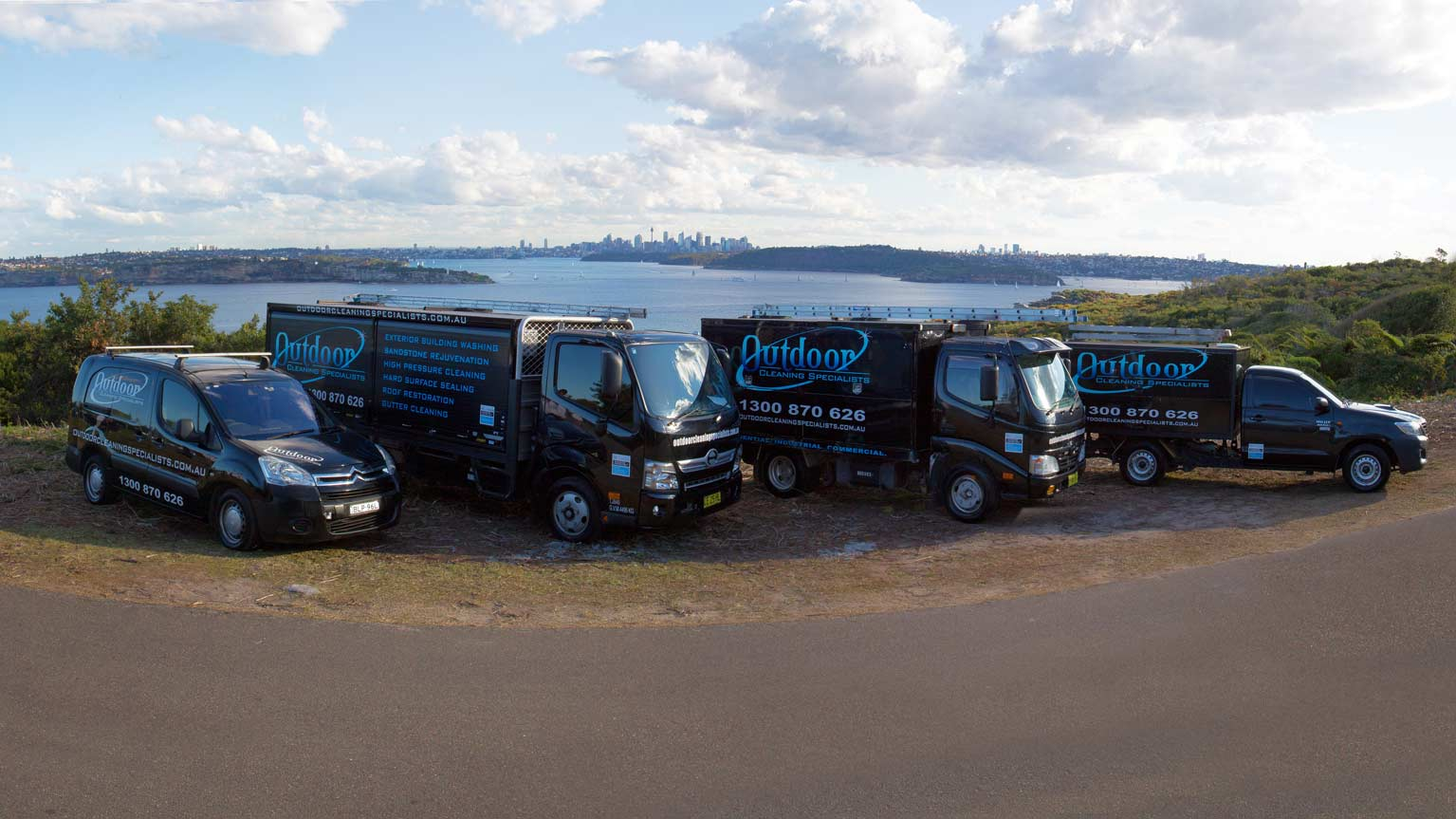 Outdoor Cleaning Specialists Vehicles